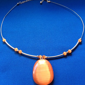 Vintage orange stone necklace - Fine Jewelry