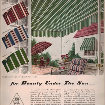 1950 Otis Woven Fabrics Advertisement