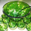 Carnival Glass -- Punch Bowl Set