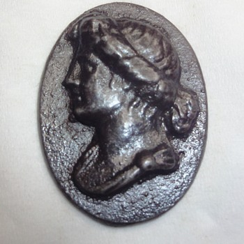 Iron Berlin Plaque Cameo of a Classical Person or God - Fine Jewelry