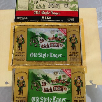 Old Style Unrolled beer can SHEETS - Breweriana