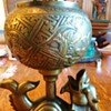 cast brass incense burner,  From?? Tibet??