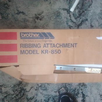 Brother KR 850 Knitting machine ribber attachment, a useful item if you're a Crafty sort.