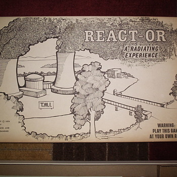 React-or A Radiating Experience TMI Boardgame 1979