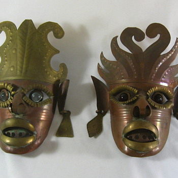 old? Masks - Folk Art
