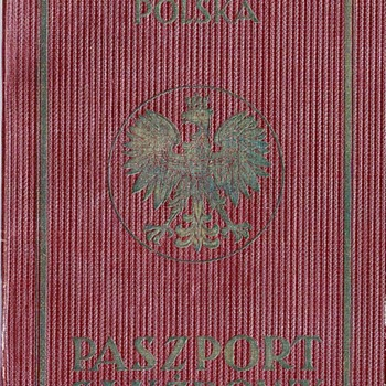 1936-1939 Polish service-passport