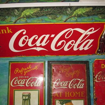 Upgraded 1950 Coca Cola Sign - Coca-Cola