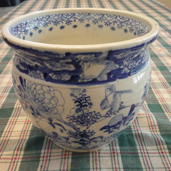 Chinese Blue & White pot found at estate auction. - Asian