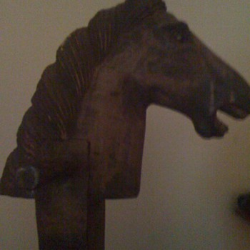 This is a very old Wooden Stickhorse left to me by my mother