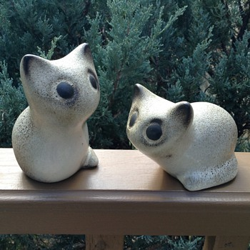 Tic and Tac ... My Ceramic kittens