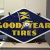 double sided good year procelin sign
