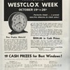 Westclox Week Advertisement from October 1935