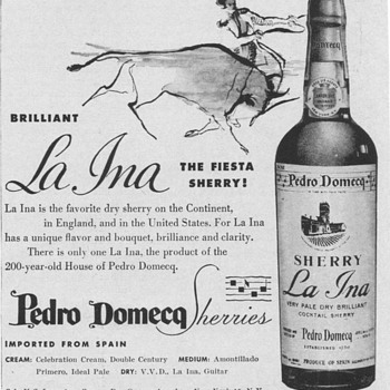 1954 Domecq La Ina Sherry Advertisement - Advertising