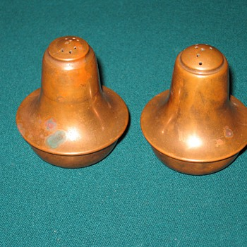 VINTAGE COPPER SALT AND PEPPER SHAKERS  - Kitchen