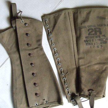 World War II military issue boot leggings