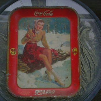 1941 Coca Cola Ice Skater Tray