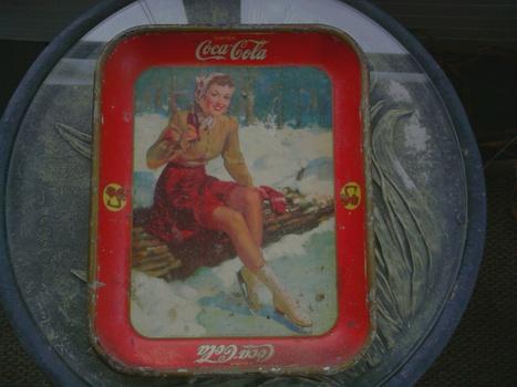 1941 Coca Cola Ice Skater Tray