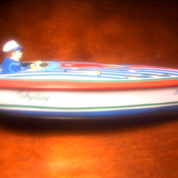 "Schylling "" Fireball"" Tin Toy Boat"