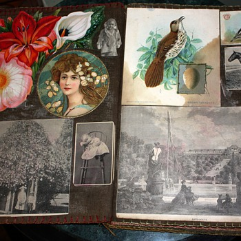 Beautiful Victorian Scrapbook on Muslin from Oakland, California ~1903