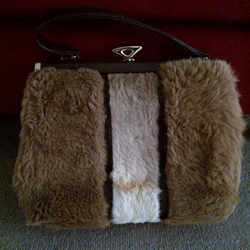 Vintage Kangaroo fur handbag