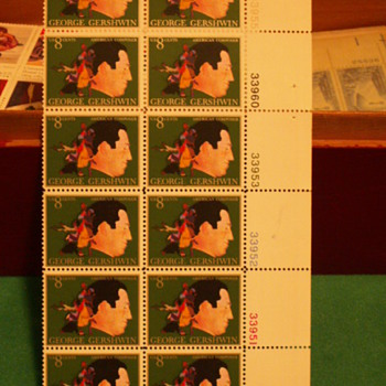 1973 George Gershwin American Composer 8 Cents Stamps