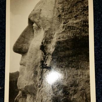 1937 Gutzon Borglum Signed Postcard?