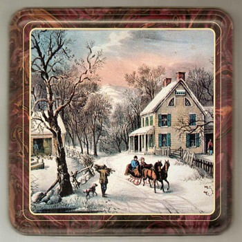 Currier & Ives Biscuit-Cookie Tin - Advertising