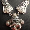 Amazing Antique Vintage Chinese Silver Dragon Pendant Necklace