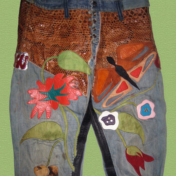 #1 ~ HAIR! Gerome Ragni's Original Designer Hippie Denim & Leather Jeans