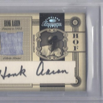 HANK AARON HOF CUTS MATERIAL AUTO JERSEY 1/1 - Baseball