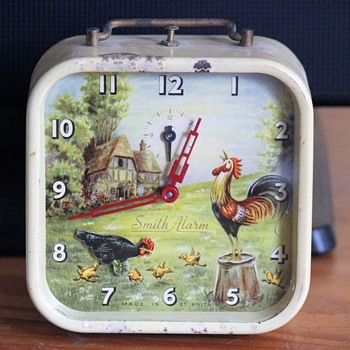 Animated Hen and Rooster Alarm Clock by Smiths