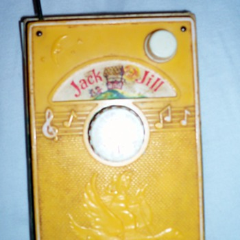 "1968 FISHER PRICE ""Jack And Jill"" TV Radio Music Box"