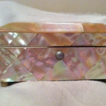 Antique Mother of Pearl Victorian Needle Box
