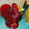 Cranberry Glass Turkey