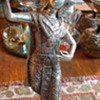 Silver colored Thai Woman  Dancing statue