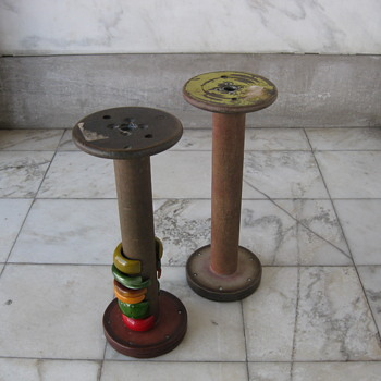 Wood bobbin spools - Sewing