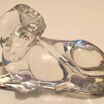 French Baccarat Crystal Unicorn Figurine