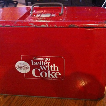 1960's Coca Cola airline cooler