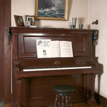 1910 Tonk Upright Grand Piano - Furniture