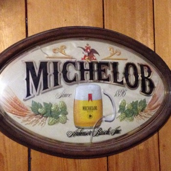Michelob Oval Plastic sign - Breweriana