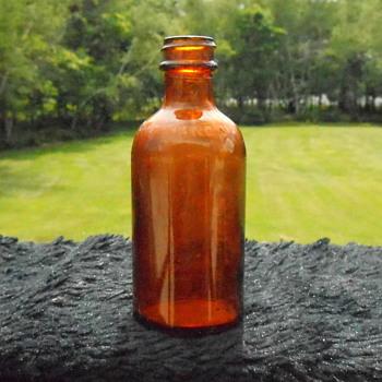 Vintage Amber Bottle