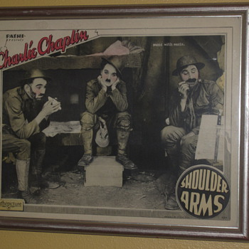 "Original Charlie Chaplin Lobby Card for ""Shoulder Arms"" - 1918/1922"