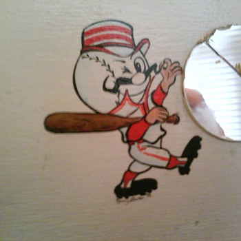 Cincinnati Reds Folk Art Piece - Baseball