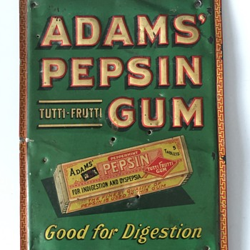 Antique WRIGLEY'S Pepsin Chewing Gum Advertising Sign Box - Advertising