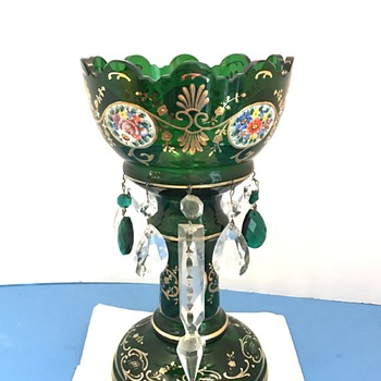 Vintage Stemware with crystals - Art Glass