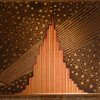 Deco Compact (Paramount?) Building and Stars - Art Deco