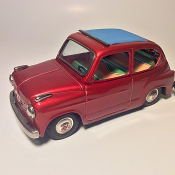 Bandai Fiat 600 convertible friction toy