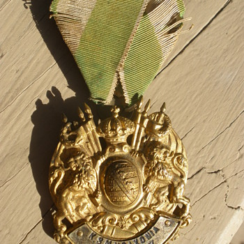 "Royal Saxon Military Association ""Saxonia"", Colditz. Imerial Saxon Veteran's badge. - Military and Wartime"