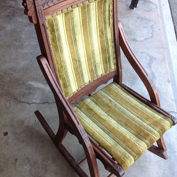 Folding Rocker-unknown age - Furniture