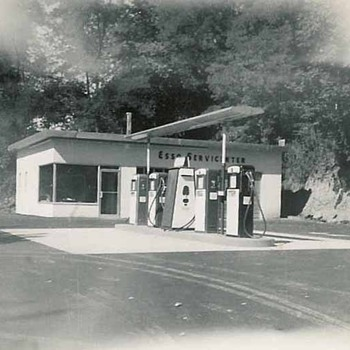1956 new Esso station - Photographs